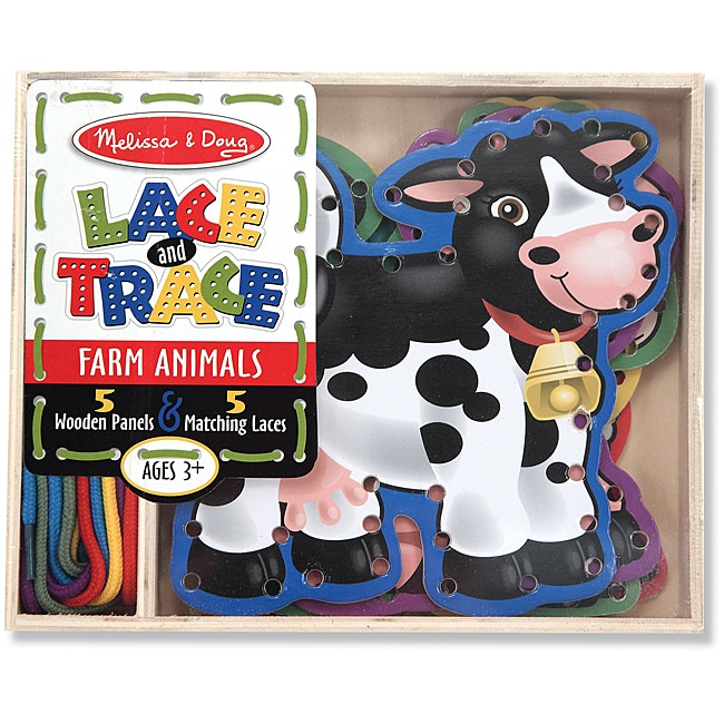 Melissa & Doug Lace and Trace Farm Play Set - Thumbnail 0
