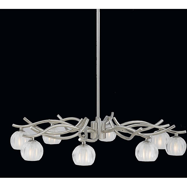 Triarch International 'Cosmo' 8-light Satin Nickel Chandelier
