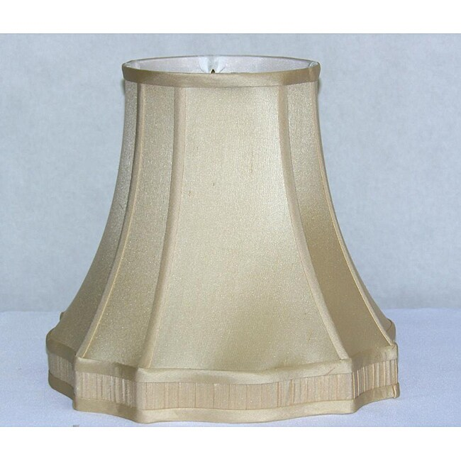 Fancy Fluted Square Base French Beige Silk Shade