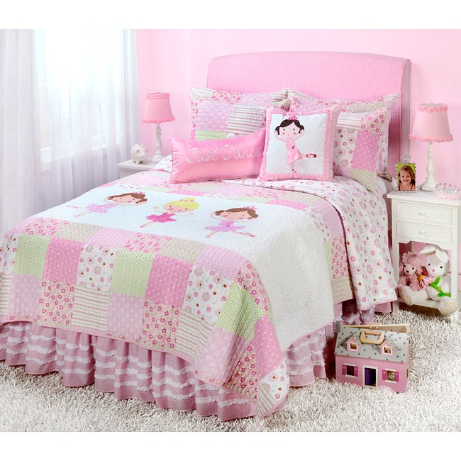 Ballerina Full Queen Size 5 Piece Quilt Set Free