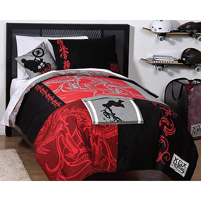X Games 'Dragon' Full-size 5-piece Reversible Bed in a Bag with Sheet Set