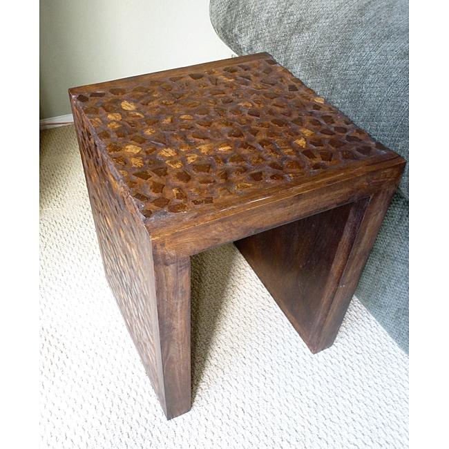 Handmade Coconut Shell End Table (Thailand)