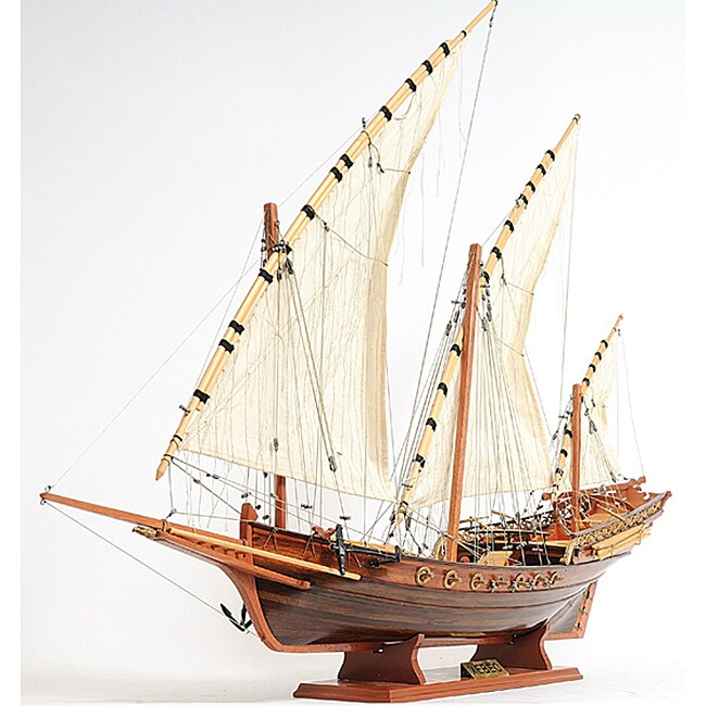 Old Modern Handicrafts Xebec Model Boat - Thumbnail 0