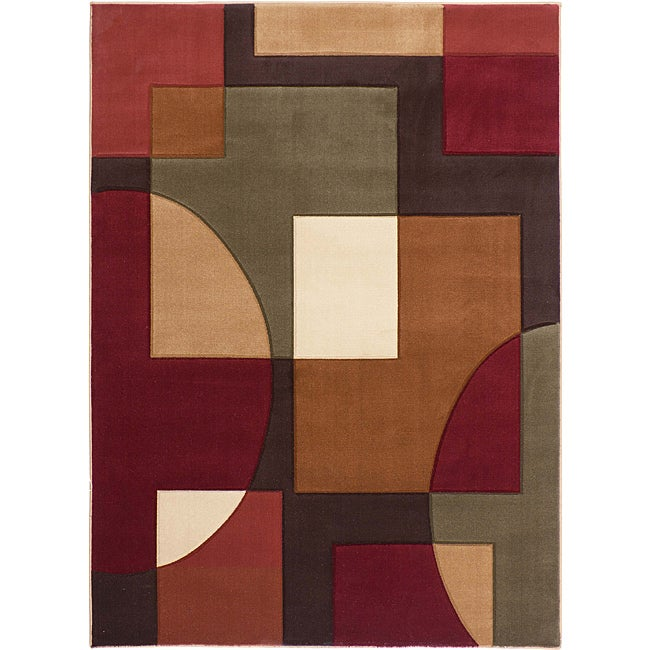 Symbol Multi Geometric Area Rug (5'3 x 7'3)