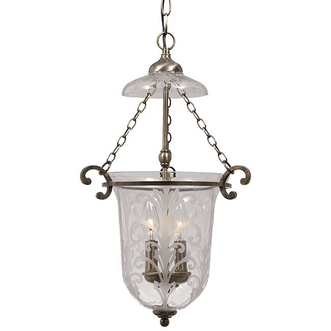Crystorama Camden Antique Brass 2-light Pendant