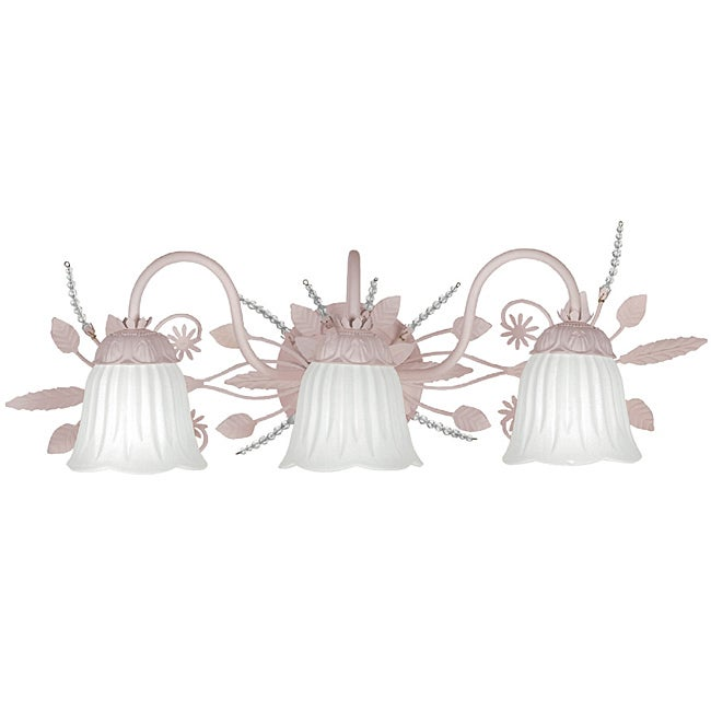 Crystorama Paris Flea Market 3-Light Blush Finish Bath Light