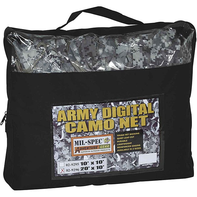 Mil-Spec Plus Adventure Gear Army Digital Camo Net