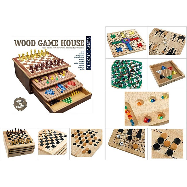 Cardinal Wood 10-Game House Set