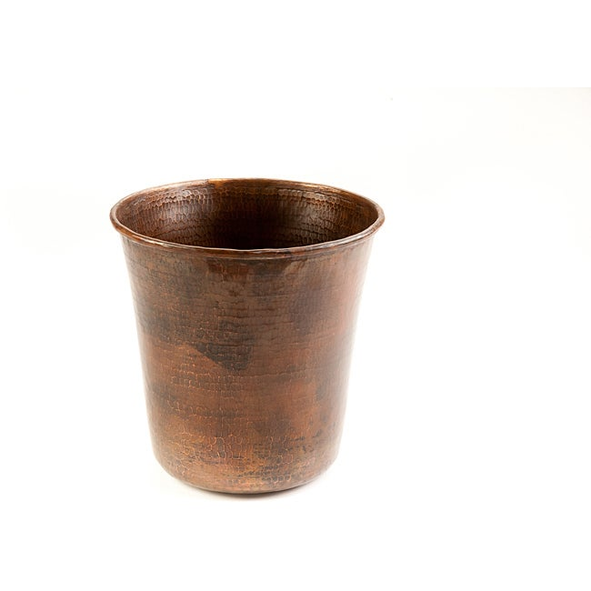 Hammered Copper Waste Bin