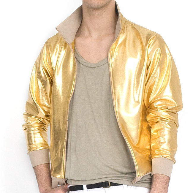 American Apparel Lamé Gold Shiny Windbreaker