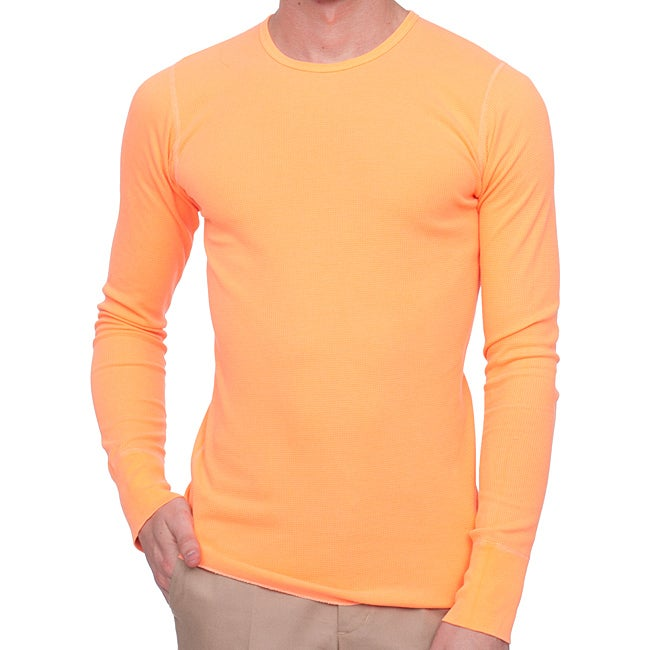 American Apparel Unisex 'Highlighter' Fluorescent Orange Thermal Tee