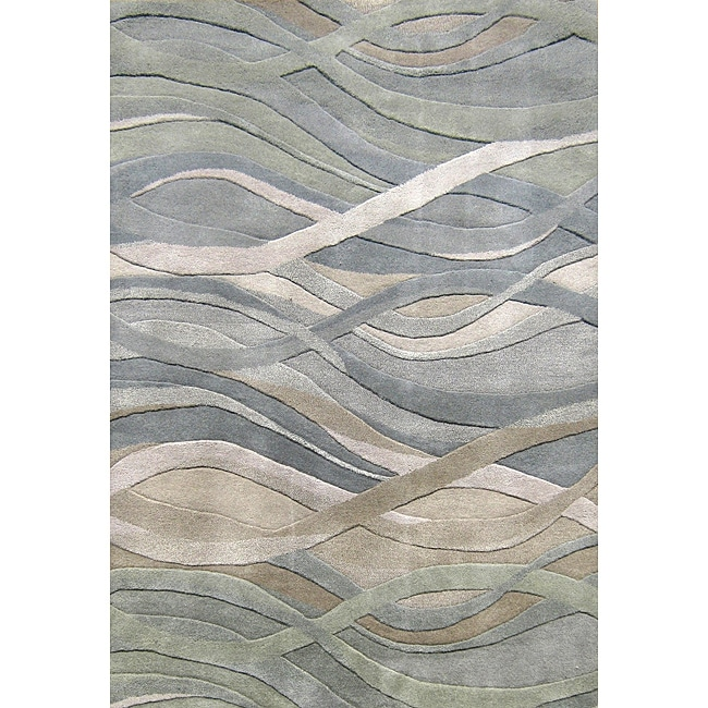 Alliyah Handmade High N' Low New Zealand Blend Wool Rug (10' x 12')