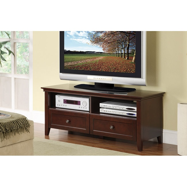 Espresso Wood LCD TV Plasma Stand Media Console
