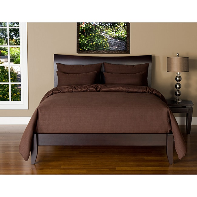 Belfast Chocolate 5-piece Twin-size Duvet Cover and Insert Set