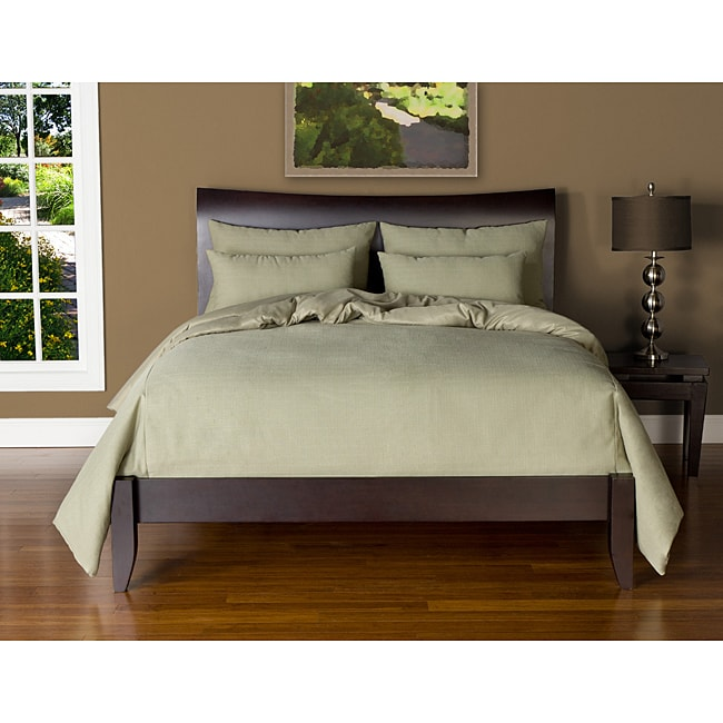 Belfast Sage Queen-size 6-piece Duvet Cover and Insert Set - Thumbnail 0