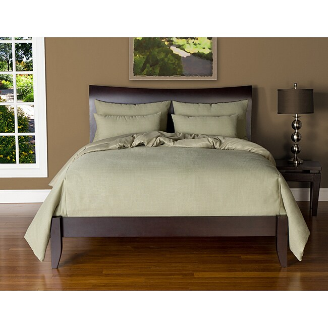 Belfast Sage 6-piece California King-size Duvet Cover and Insert Set