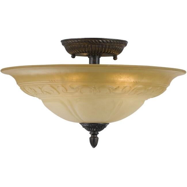 Venetian Bronze Oxford 5-light Semi-flush Mount Ceiling Light