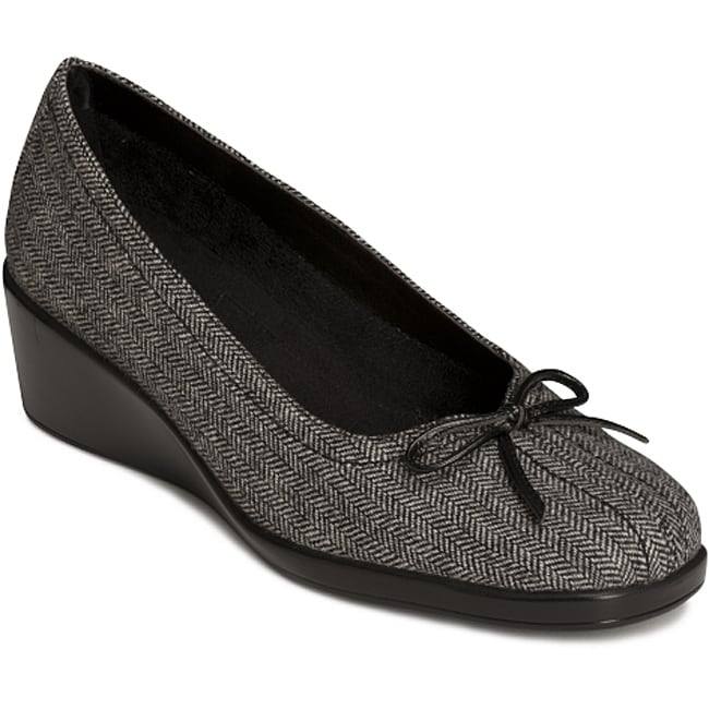 A2 by Aerosoles Women's 'Totem Pole' Black Combo Slip-on Wedges