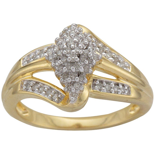 Unending Love Sterling Silver and 14k Gold Vermeil 1/4ct TDW Diamond Ring (K-L, I1-I2)