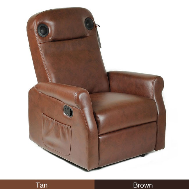 Shop SounDome Wireless Gaming Home Theater Leather Recliner Chair With  Speakers   Free Shipping Today   Overstock   6408657