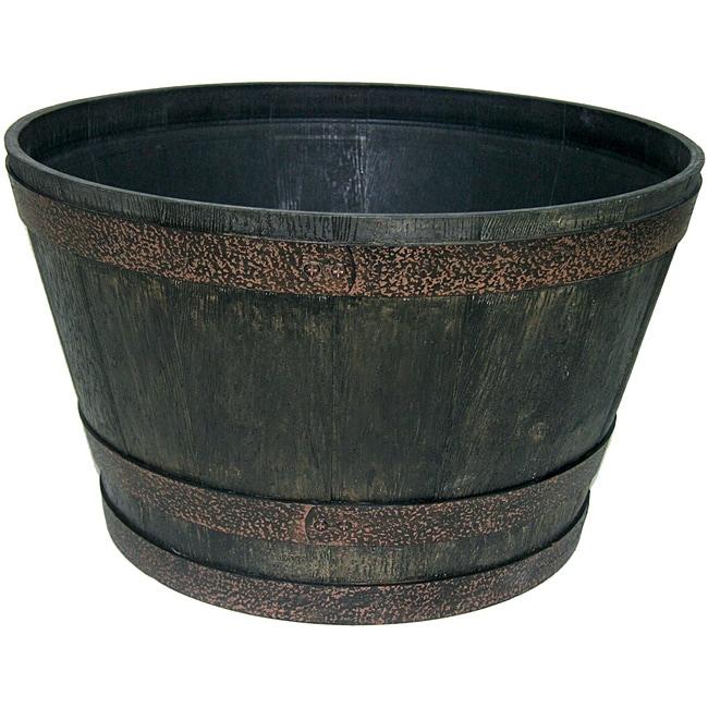 Garden Odyssey Whiskey Worn Iron Barrel  (25-inch)