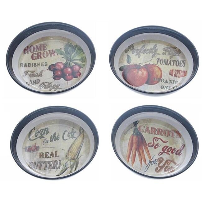 Certified International 'Farm Fresh' Soup/Pasta Bowls (Set of 4)