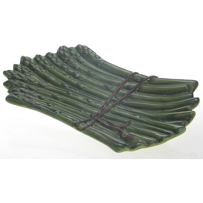 Certified International Farm Fresh 3-D Asparagus Platter (13 x 7.5)
