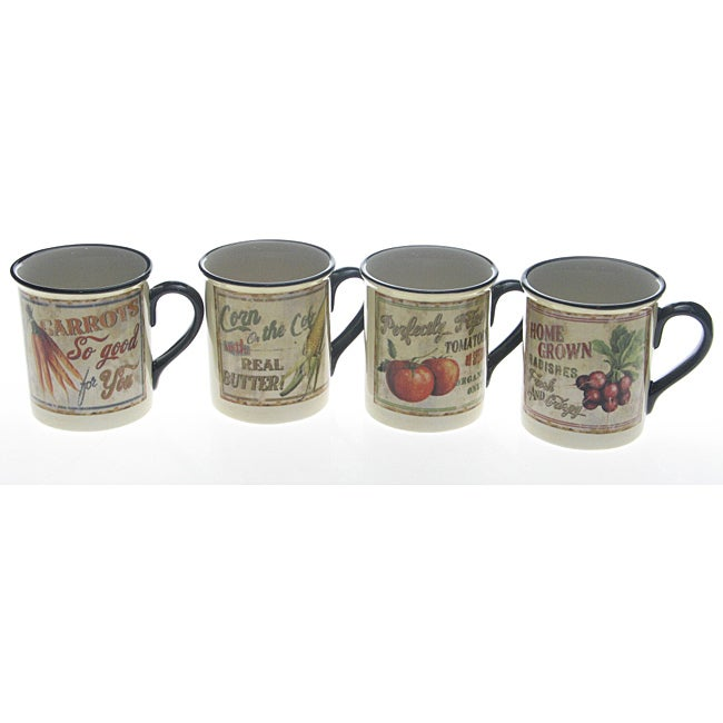 Certified International 'Farm Fresh' Mugs (Set of 4)
