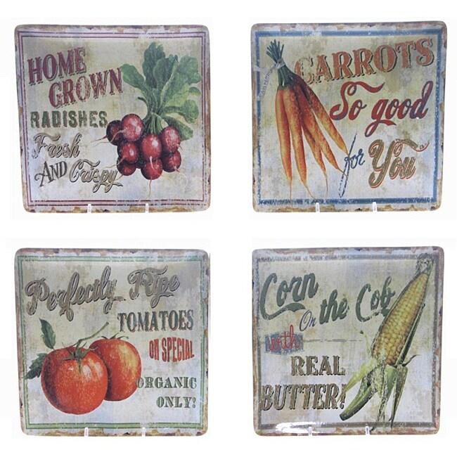 Certified International 'Farm Fresh' Square Salad Plate (Set of 4)