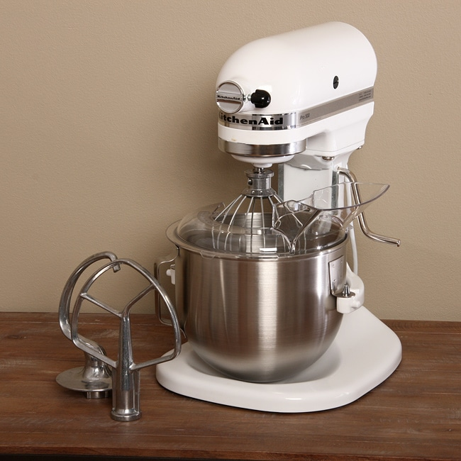 kitchenaid ksm500qwh heavy duty plus bowl lift white stand mixer free shipping today. Black Bedroom Furniture Sets. Home Design Ideas