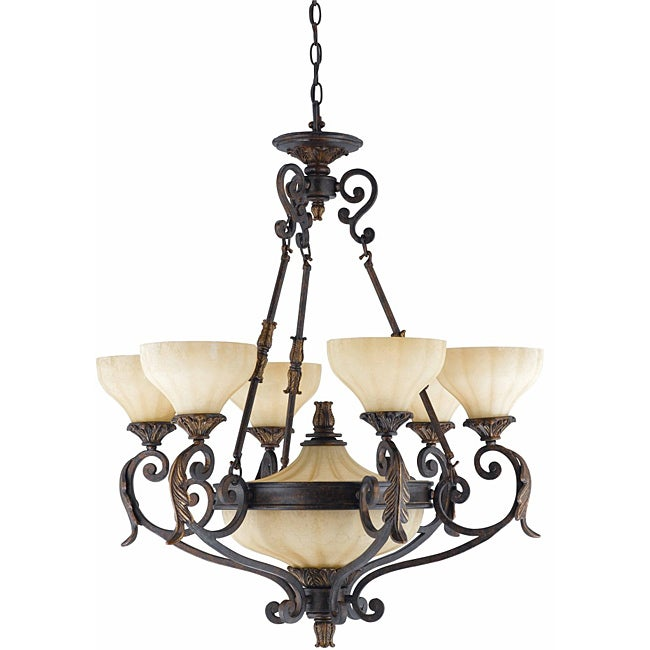 Triarch International Venus 8-light English Bronze Chandelier