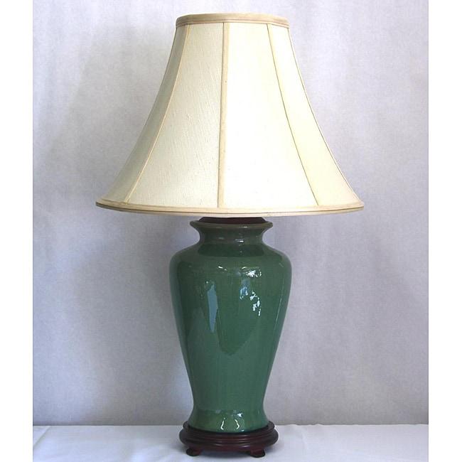 Porcelain Sage Green CrackleTable Lamp
