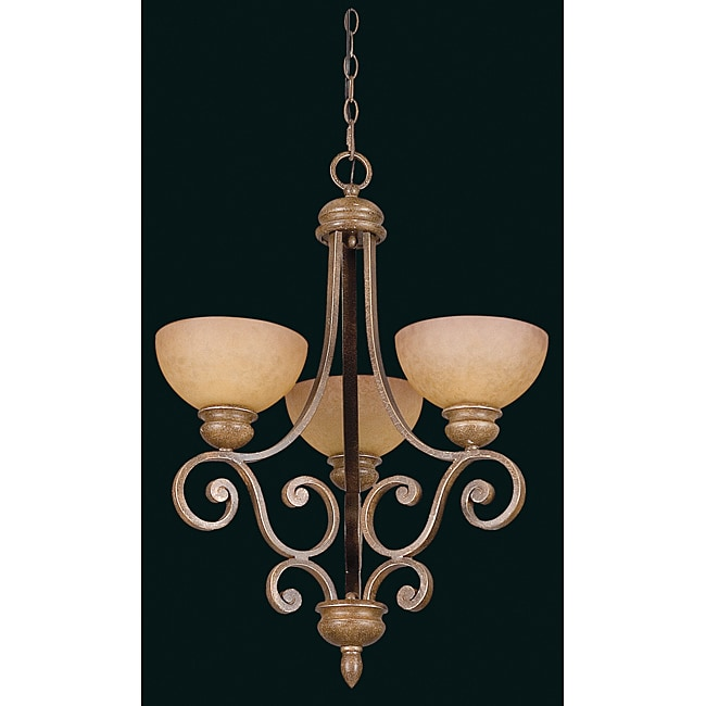 Three Light Sienna Hi-lite Chandelier