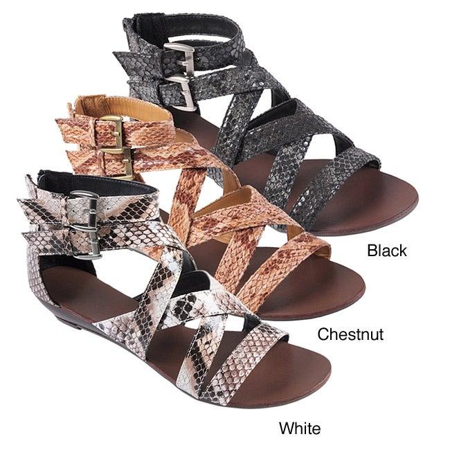 Journee Collection Women's 'Denisa' Strappy Gladiator Sandals