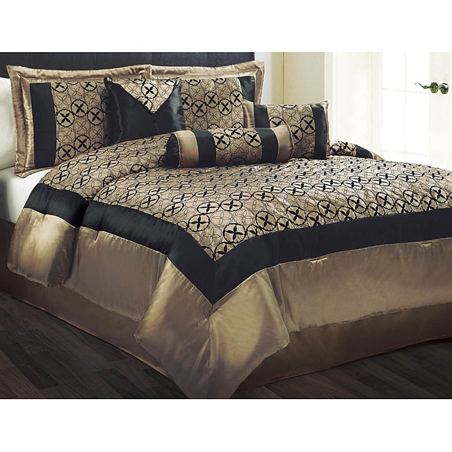 giovanni 7 piece queen size comforter set free shipping today