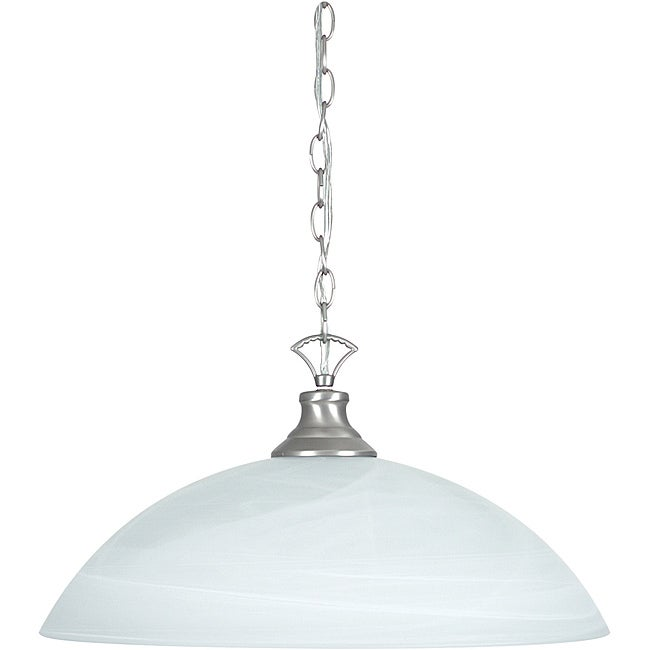 One Light Satin Nickel Pendant