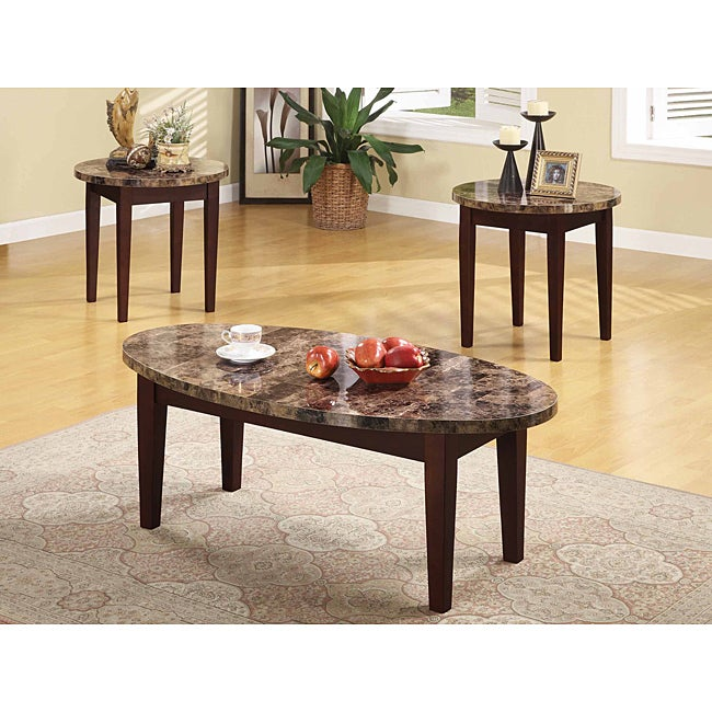 Faux Marble Table From Big Lots: Cappuccino Faux Marble Top Coffee Table