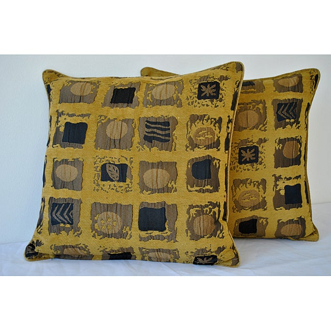 Shery Kline Majesty Mustard-Yellow Pillow (Set of 2)