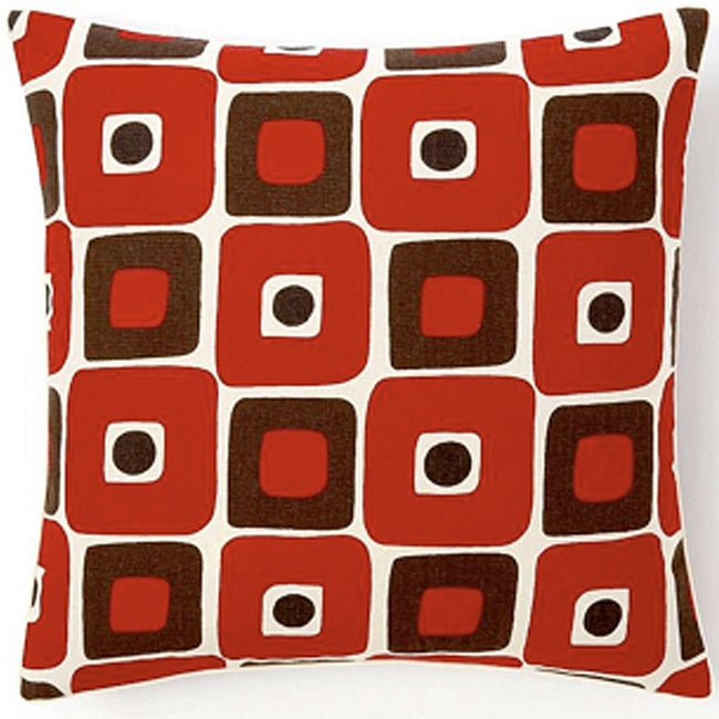 Geo Red Decorative Pillow