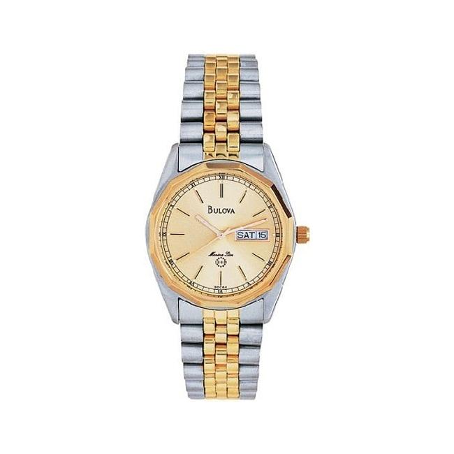 Bulova Men's Marine Star Two-tone Stainless Steel Watch