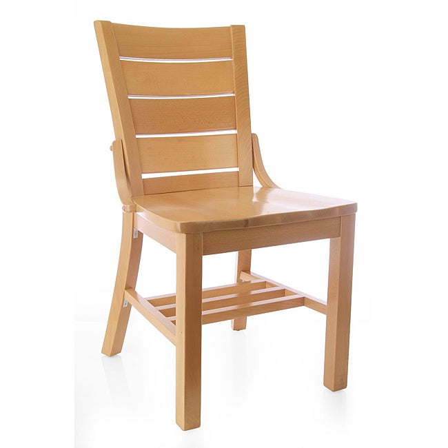 Natural Wood Media Dining Chairs (Set of 2)
