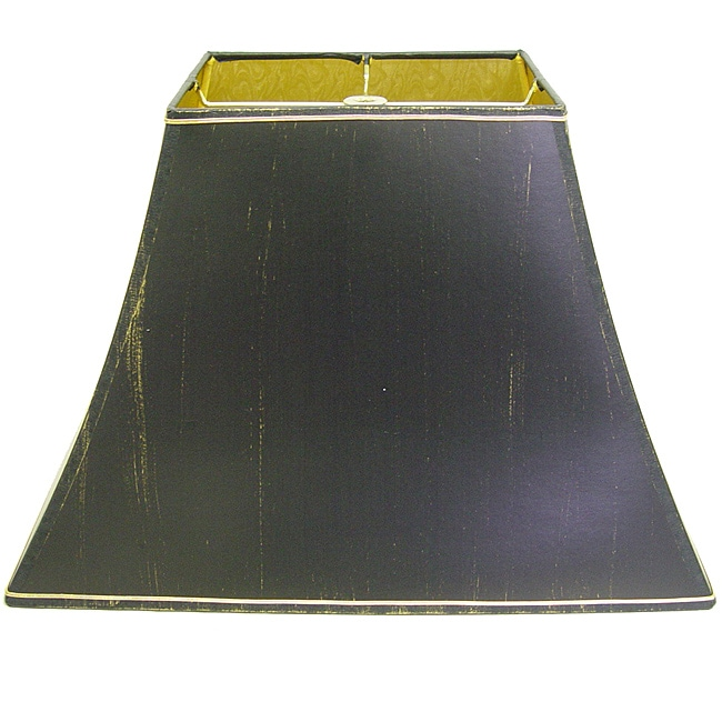 Hard Back Rectangle Black Shade with Gold Lining