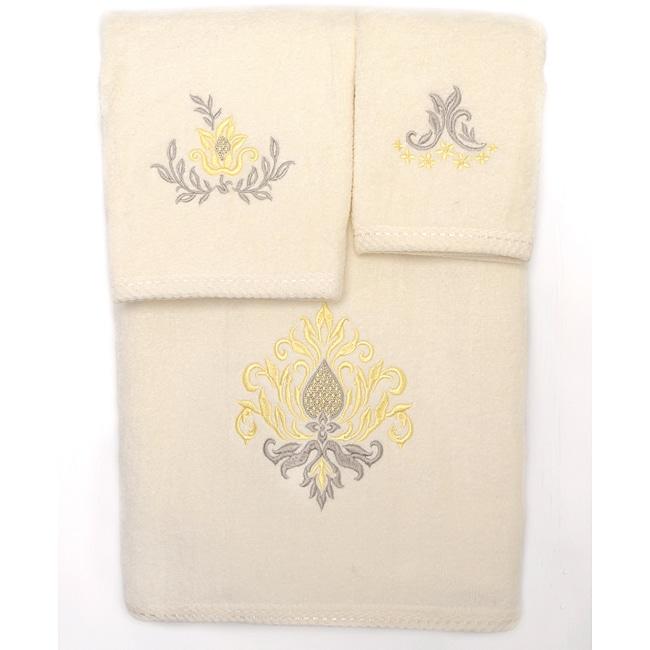 Waverly Bedazzled Cotton 3-piece Towel Set