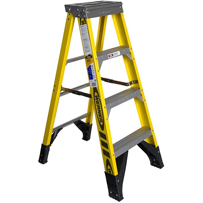 Werner 48 Inch Fiberglass Step Ladder Free Shipping