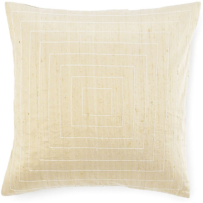 Pyramid Taupe 20x20-inch Silk Decorative Pillow