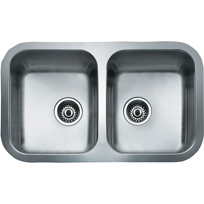 TEKA Stainless Steel 31 Inch Under Mount Double Bowl Kitchen Sink