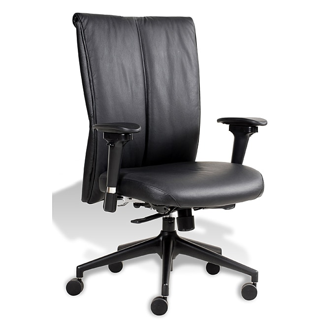 J&K Leather Midback Office Chair