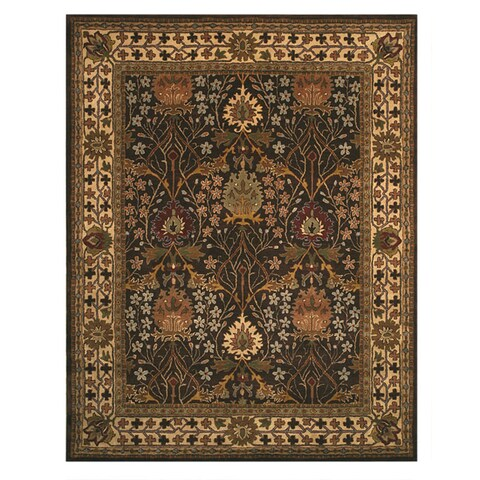 Hand-tufted Wool Brown Traditional Oriental Morris Rug - 4' x 6'