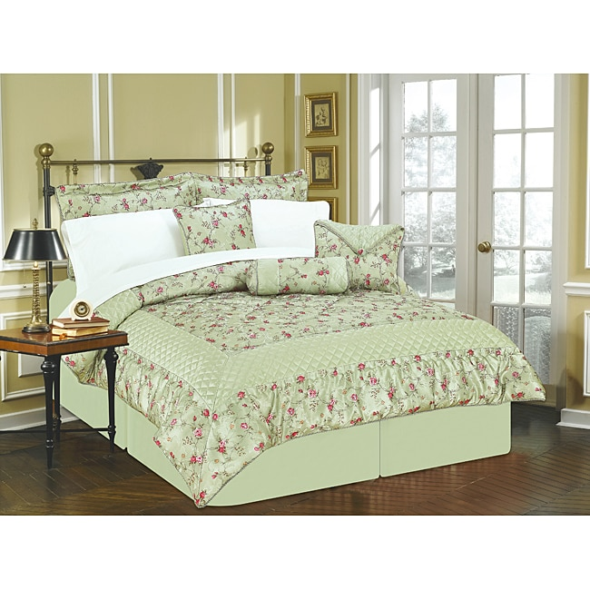 Sage 'Enchanted Garden' 11-piece King Bed in a Bag with Sheet Set