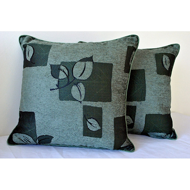 Sherry Kline 18-inch Leigh Green Decorative Pillows (Set of 2)